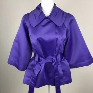 Vintage VICTOR COSTA Purple Belted Wrap Jacket Med